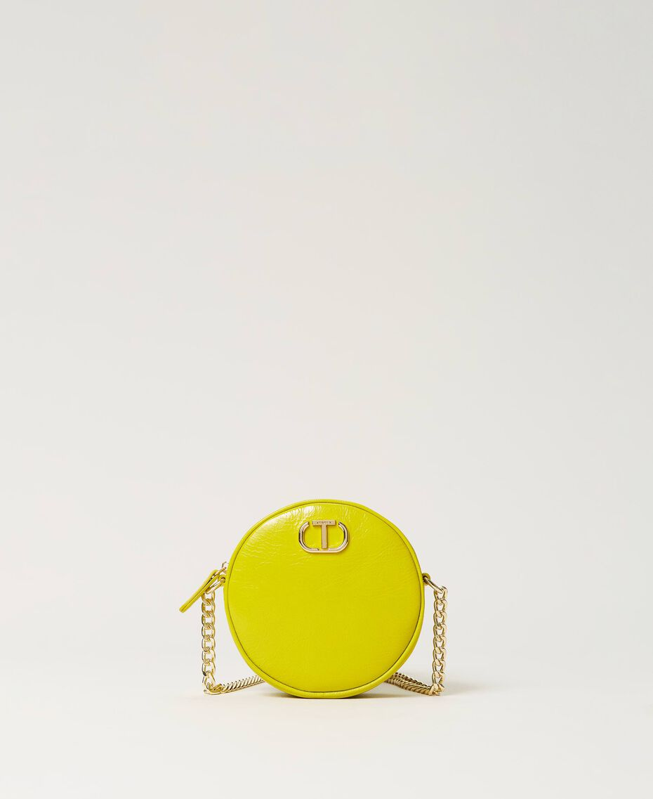 """Leather shoulder bag """"Led"""" Yellow Woman 211TD8032-01"""