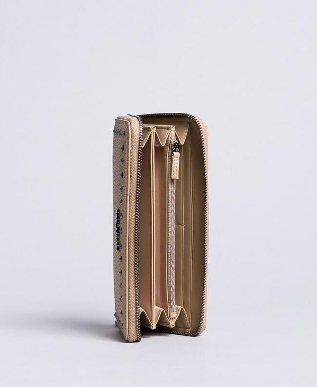 Portefeuille en similicuir avec clous Tourterelle Femme VA8PAJ-03