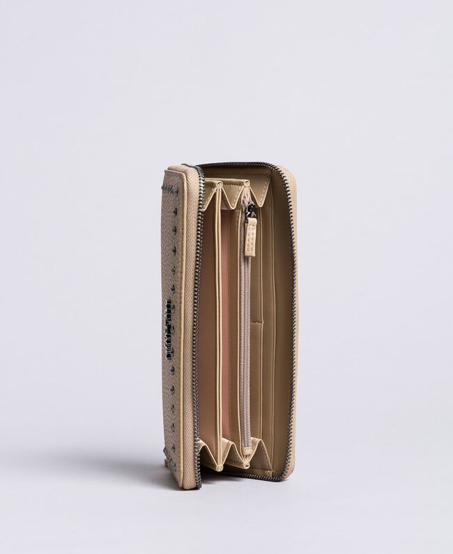 Portafoglio in similpelle con borchie Tortora Donna VA8PAJ-03