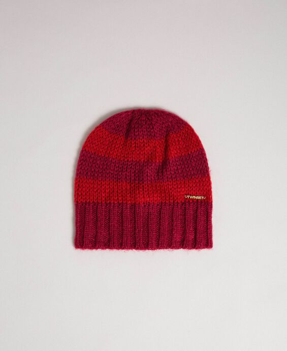 Striped mohair hat