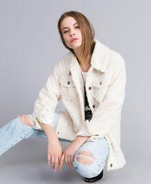 Куртка-кабан из искусственной кожи ягненка Перламутр женщина JA82KG-01