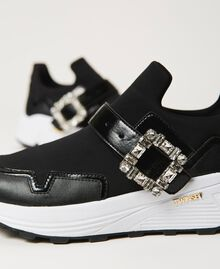 Running shoes with jewel buckle Black Woman 202TCP012-04