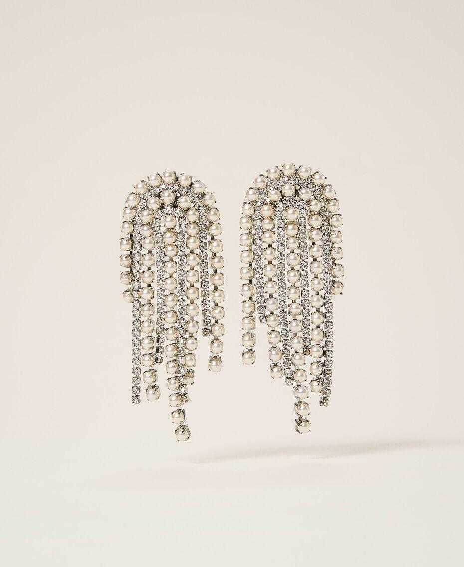 Ohrringe mit Strass und Perlen Kristall Frau 202TA4312-01