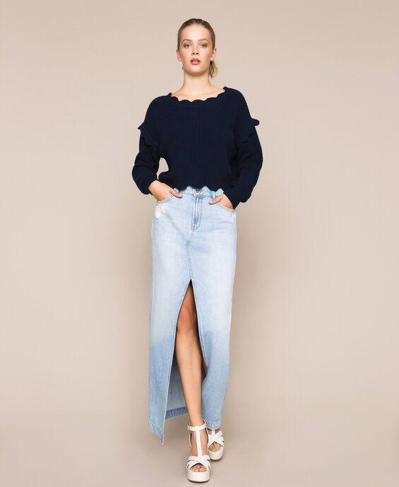 Jupe longue en jean
