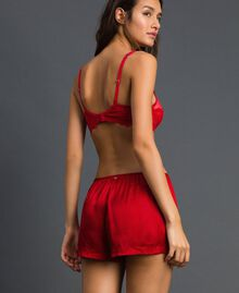 Satin shorts Burning Red Woman 192LL2MCC-03