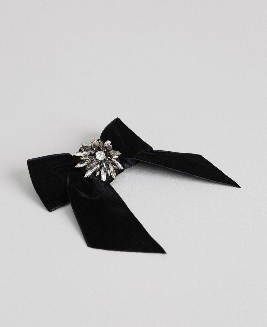Manteau en drap avec dentelle Noir Femme 192TP2314-20