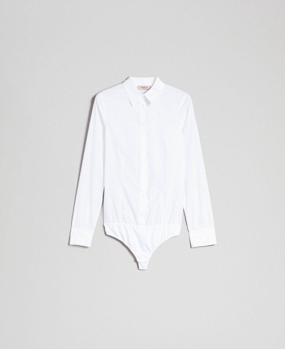 Poplin body shirt White Woman 999TT2020-0S