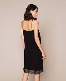 Robe nuisette avec dentelle Noir / Noir Femme 201MT2282-03