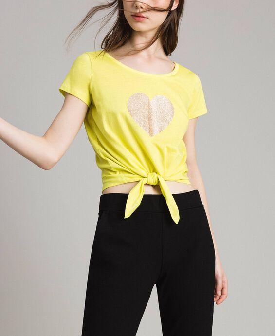 T-shirt court avec cœur