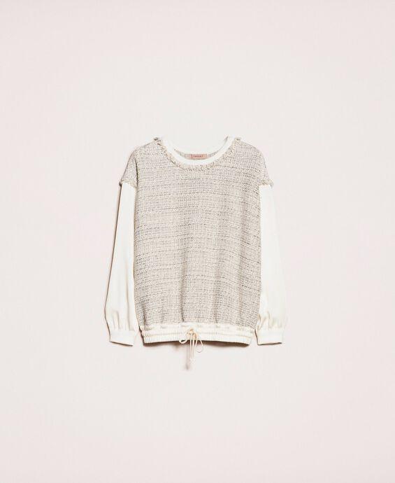 Bouclé fabric blouse