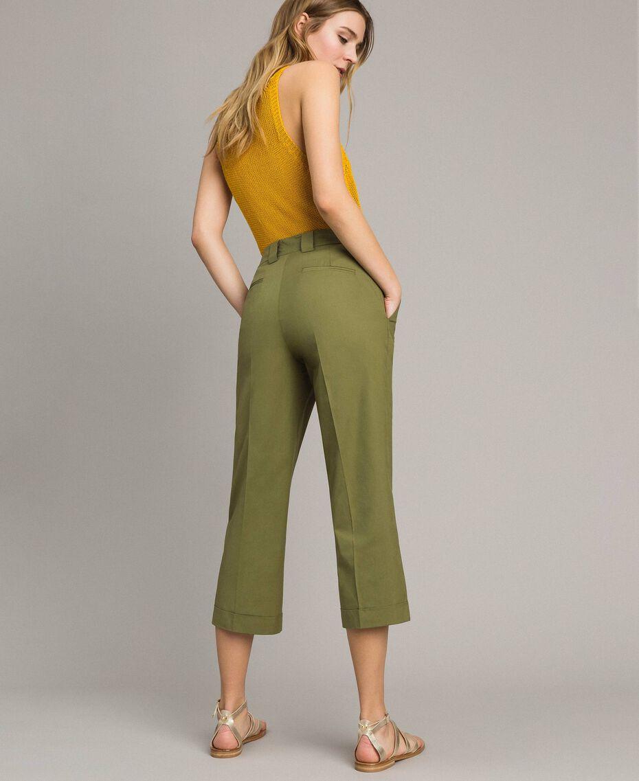 """Pantalon en popeline Vert """"Olive"""" Femme 191TT2232-03"""