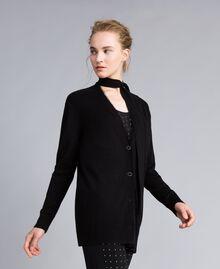 Silk and cashmere cardigan Black Woman PA83GG-01