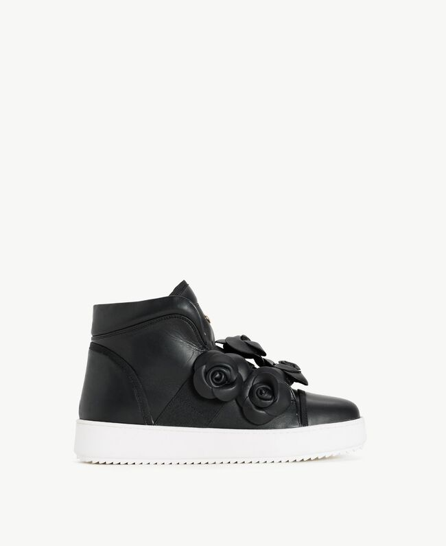 TWINSET Flower sneakers Black Woman CS8PJW-01