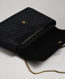Grand sac à bandoulière en velours Noir Femme 192TO8070-05