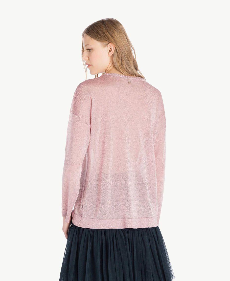 Pullover aus Lurex Lurex Hortensienrosa Frau PS83Y3-03