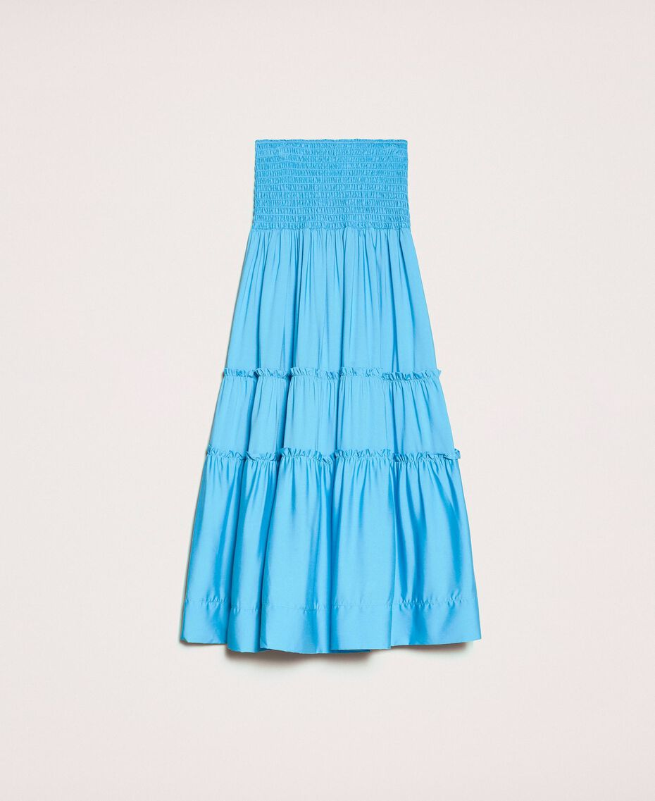 "Skirt-dress with flounces ""Waterfall"" Blue Woman 201LB2BEE-0S"