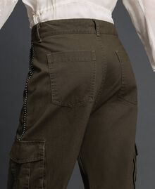 """Combat trousers with stones and studs """"Caper"""" Green Woman 192TP2583-03"""