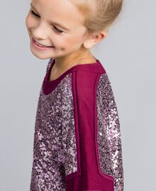 "Mini abito con full paillettes Viola ""Sweet Grape"" Bambina GA82PC-04"