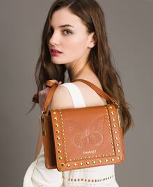 Leather Bea shoulder bag Leather Brown Woman 191TO8261-0S