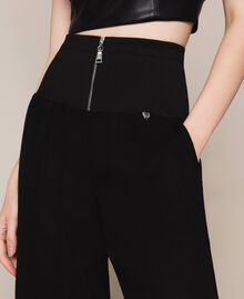 Georgette palazzo trousers Black Woman 201MT2071-05