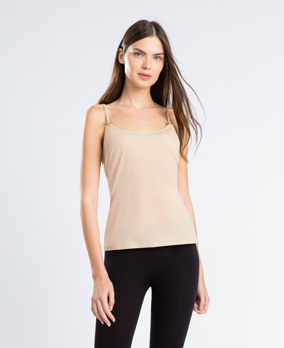 top with shoulder straps Pink Skin Woman LCNNBB-0S