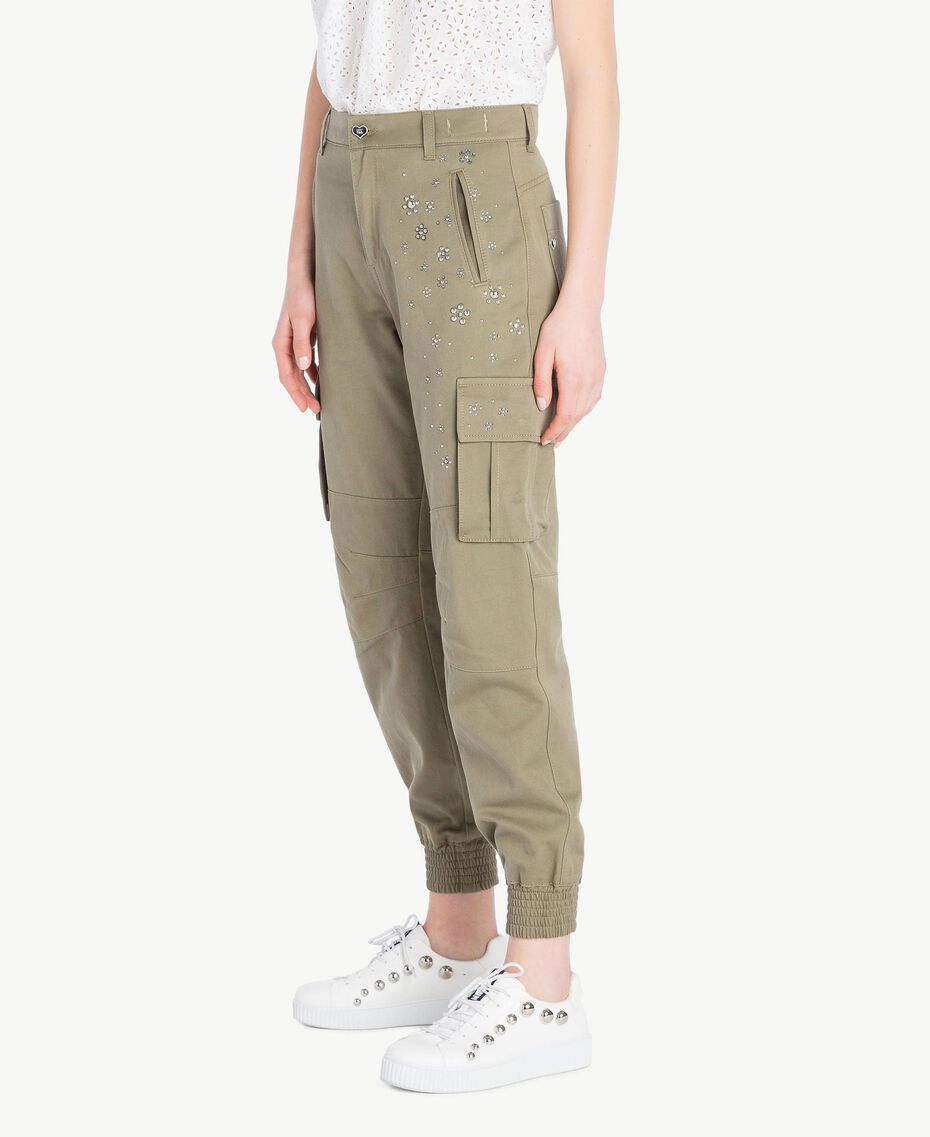 Combat trousers Army Green Woman JS82QH-02