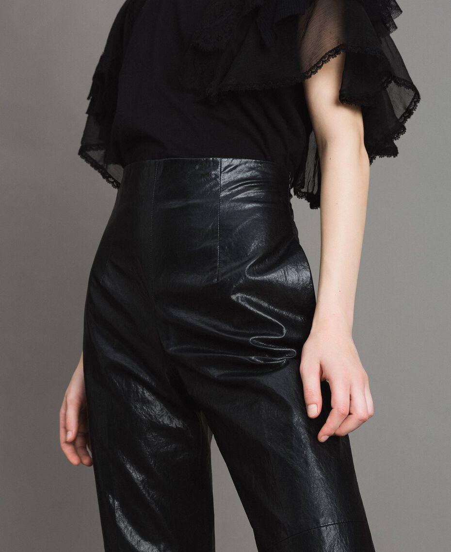 Pantaloni in similpelle Nero Donna 191TP2550-05