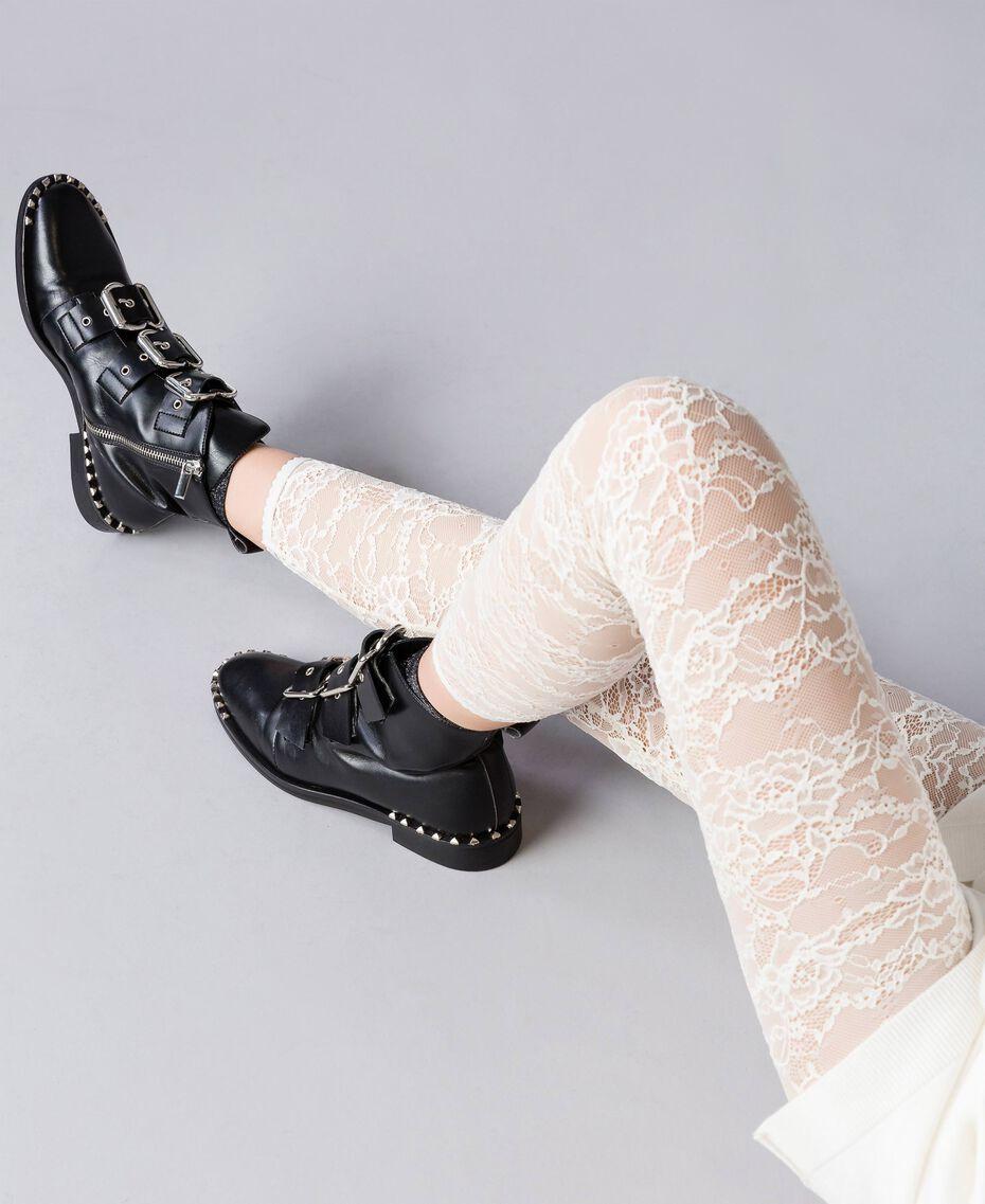 Leggings aus Spitze Perlmutt Frau JA82GD-02
