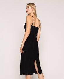 Macramé lace sheath dress Black Woman 201MP2233-03