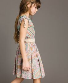 Muslin dress with paisley print Paisley Print Child 191GJ2510-0S