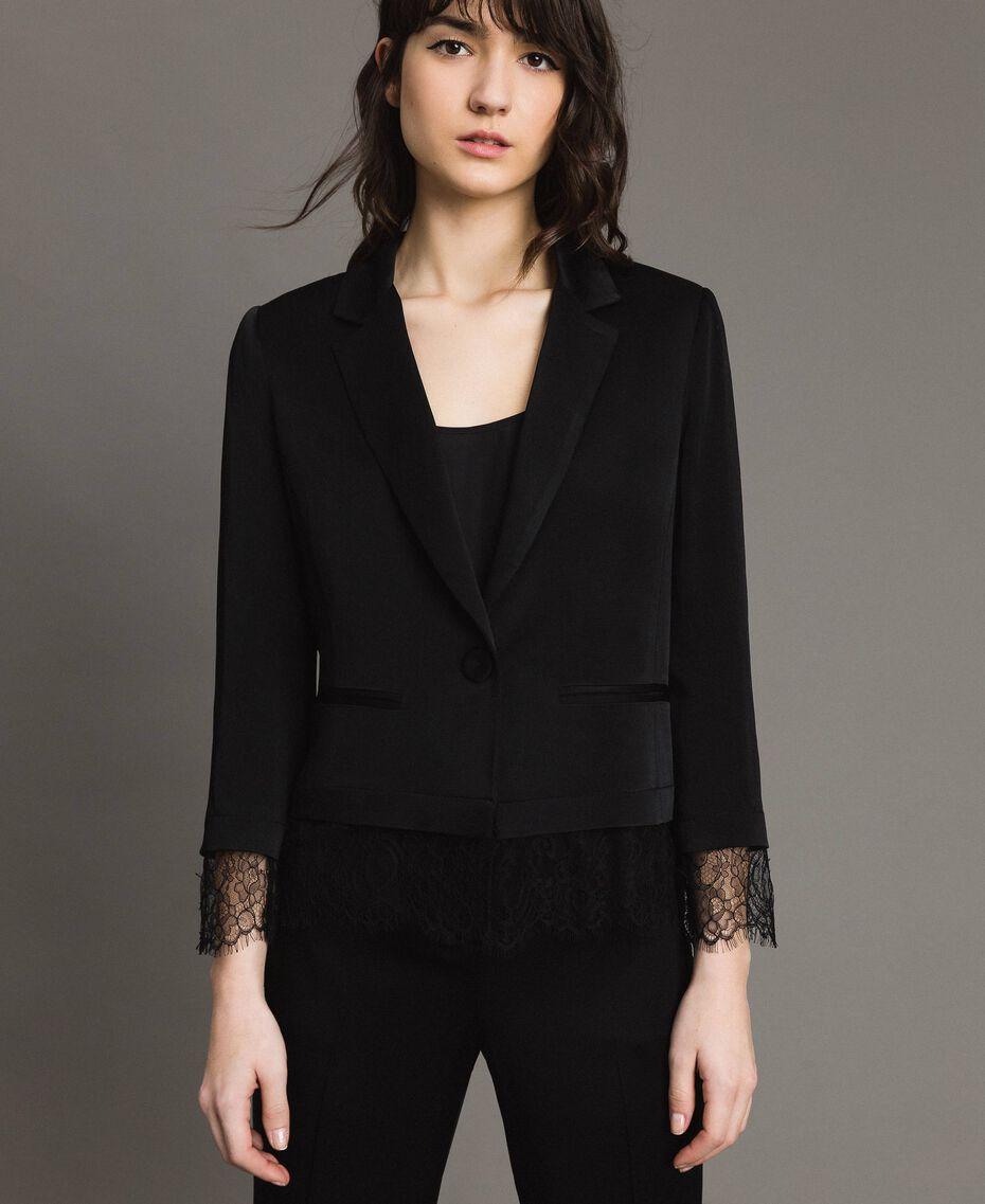 Veste blazer avec dentelle Noir Femme 191TP2731-01
