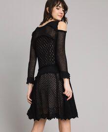 Lace stitch dress Black Woman 191TP3070-04