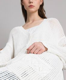 Openwork knitted cardigan Off White Woman 191ST3041-06