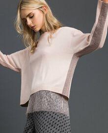 Kastiger Pullover mit Unterhemd Durchschnittgrau-Mélange Frau 192MP3101-03