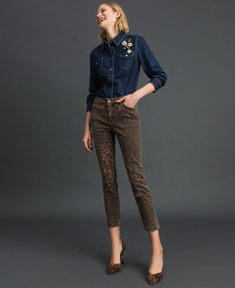 Jeans skinny con stampa animalier Stampa Animalier Donna 192MP2211-01