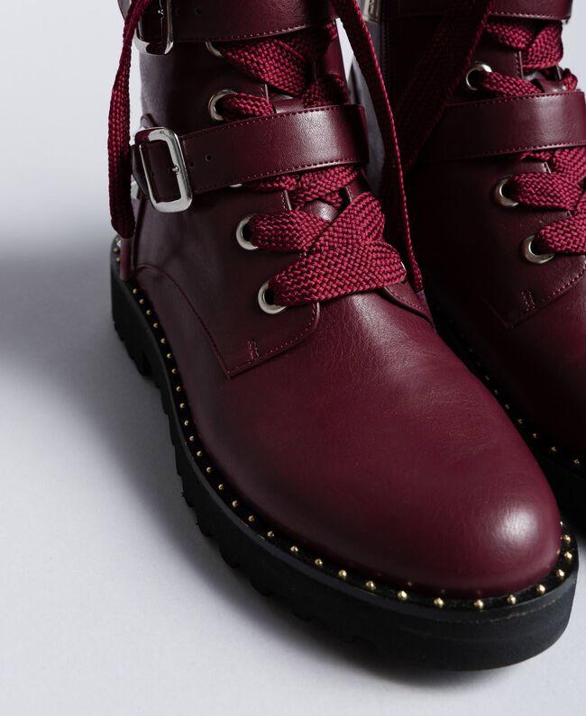 Boots en similicuir Bordeaux Femme DA8PJA-04