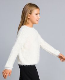Fur stitch jumper Off White Child GA83D2-02