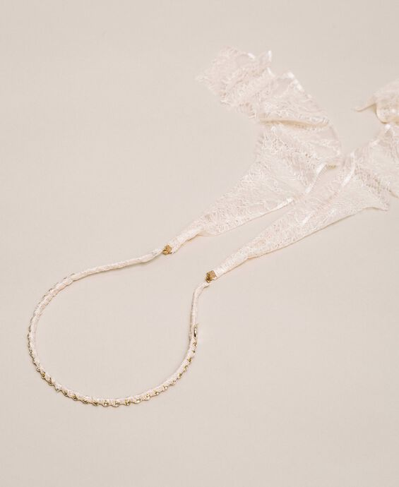 Rhinestones and lace headband