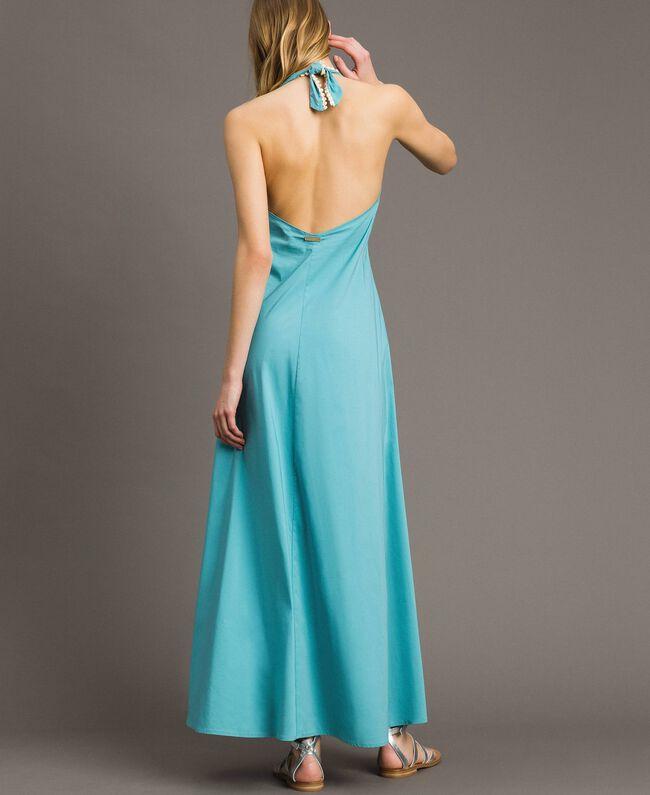 Poplin long dress Mousse Blue Woman 191LB2JBB-04