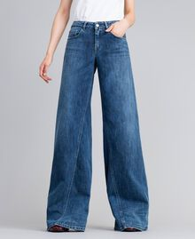 Jean large en denim Bleu Denim Femme JA82Q4-01
