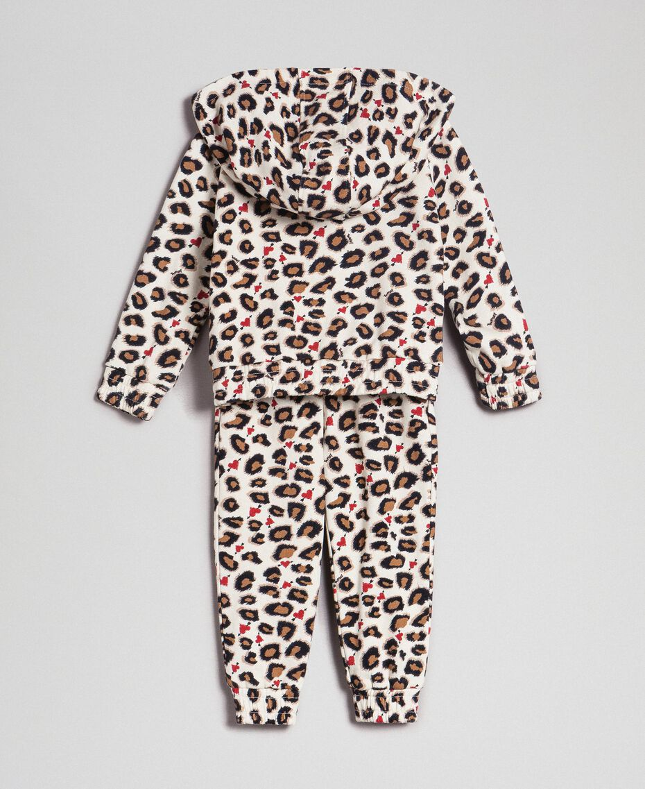 Animal print sweatshirt and jogging trousers Leopard Print Child 192GB2331-0S
