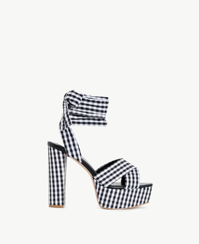 TWINSET Gingham sandals Black Woman DS8PB7-01