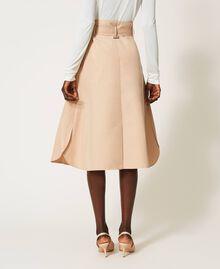 Skirt with multicolour gros-grain Soufflé Nut Brown Woman 202LI2EBB-05