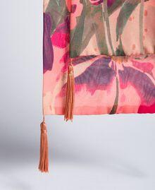 Écharpe imprimée Imprimé Rose Grande Tulipe Femme OA8T14-01