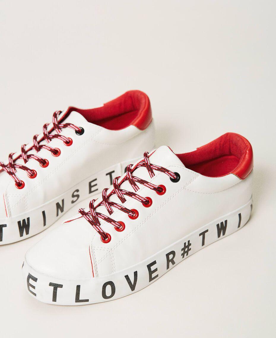 Sneakers mit Logo Weiß Frau 202LIPZCC-02