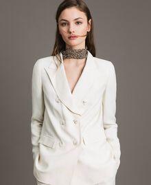 Linen blend blazer White Snow Woman 191TP2203-04