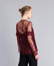 Valencienne lace multi-colour shirt Bordeaux Woman PA82FR-03