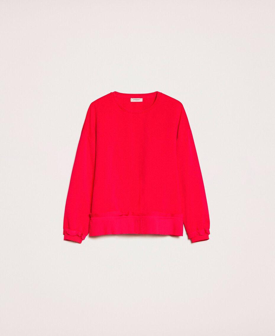 Блуза из жоржета с плиссировкой Вишня женщина 201TP2023-0S