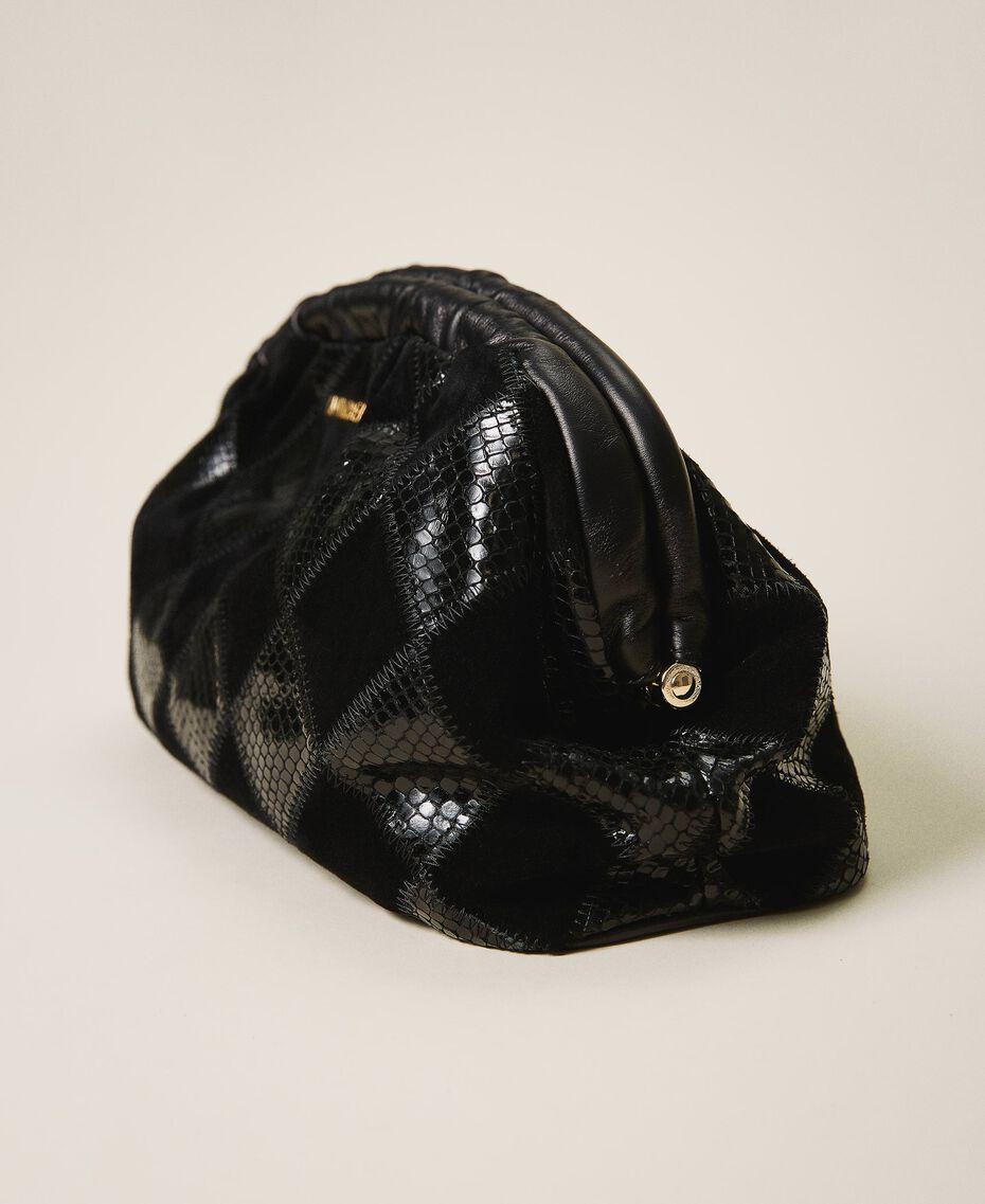 Макси-пошет с ромбовым узором Двухцветный Ромбы Черный / Черный женщина 202TD8033-02