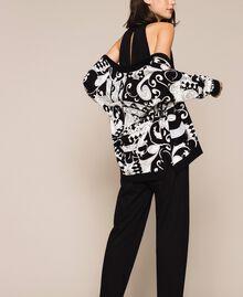 Cardigan imprimé avec sequins Imprimé Liberty Blanc / Noir Femme 201ST3162-05